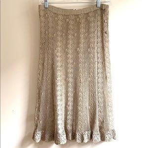 Dresses & Skirts - Vintage Crocheted Lace / Fishnet Sheer Skirt